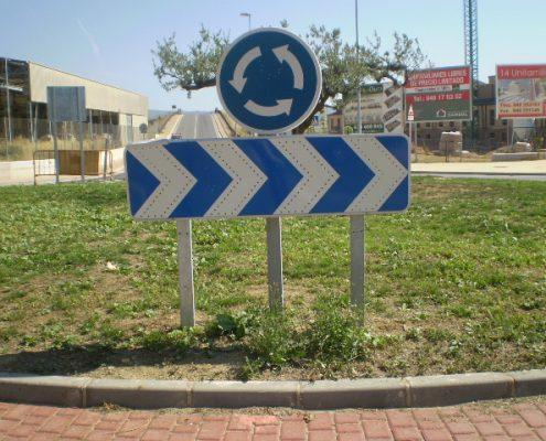 señal vertical rotonda