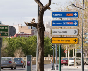 Señalización informativa urbana