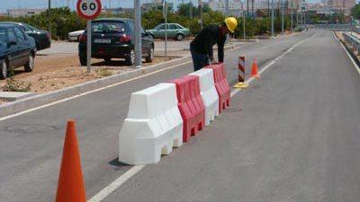 Baliza de protección en obras