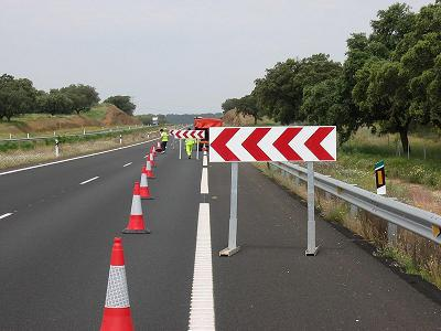 Señalización de obras en carretera