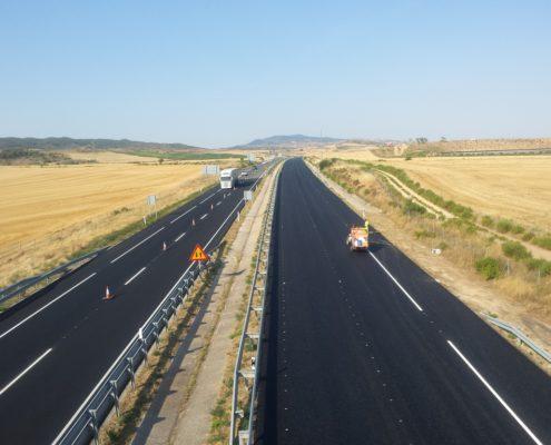 Pintura de lineas de la autovía
