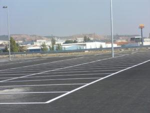 Pintura de plazas de aparcamiento