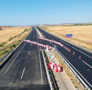 Señalización de obras en autovía