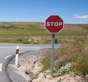 stop señal horizontal