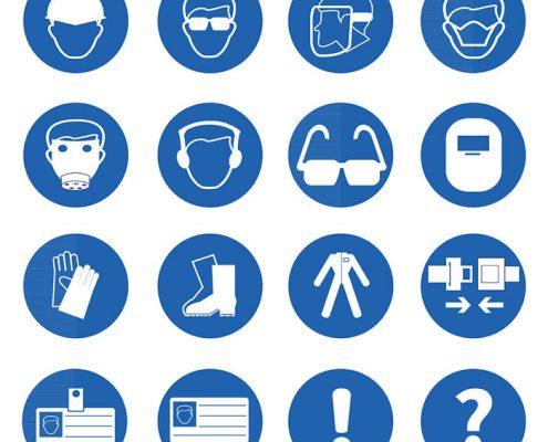 Simbolos de señalización industrial